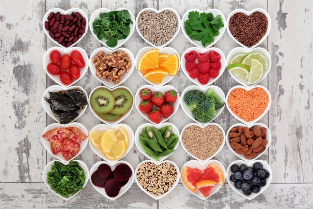 healthy foods vegetables fruits grains
