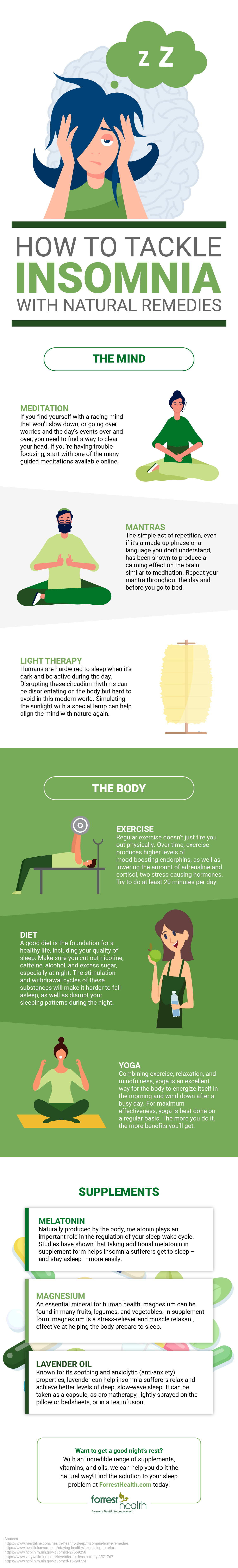 How to Tackle Insomnia with Natural Remedies Infographic