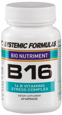 B16 – Vitamin B Stress Complex 60 caps