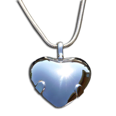5000-P Level 2: Heart - All Sterling Silver Polished Shield
