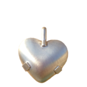 5000-S Level 2: Heart - All Sterling Silver Satin Shield