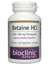 Betaine HCL w/ Fenugreek  60 vegcaps