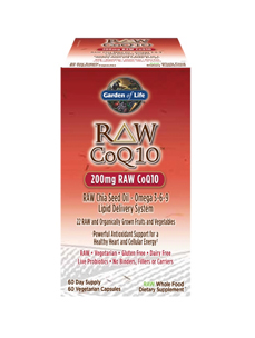 RAW CoQ10 200 mg 60 vcaps