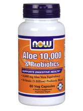 Aloe 10,000 & Probiotics 60 vegcaps
