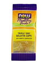 """Triple """"000"""" Gelatin Caps 200 Empty Caps"""