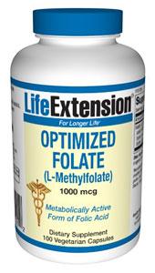 Optimized Folate 1000mcg 100 vcaps