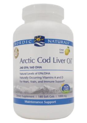 Arctic Cod Liver Oil 1000 mg 180 gels