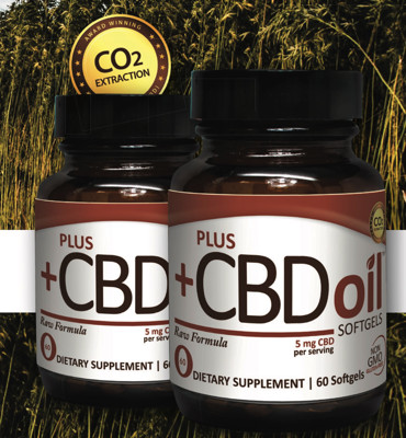 PlusCBD Oil 5mg Raw CBD 60 gels