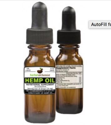 Natural Alchemist 300mg CBD Hemp Oil Drops