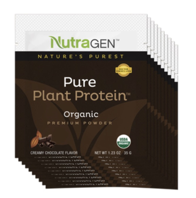 Pure Plant Protein 10 Travel Packets – Chocolate
