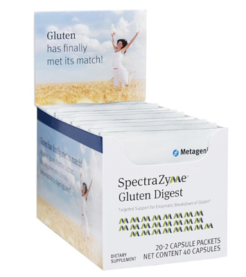 SpetraZyme Gluten Digest 20 2 Capsule Packets