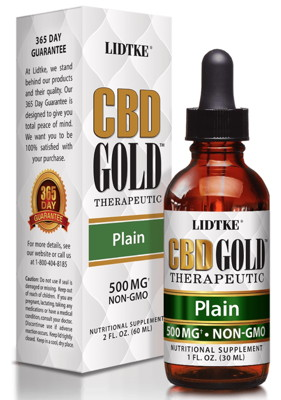 CBD Gold Therapeutic Organic 500mg 1 oz
