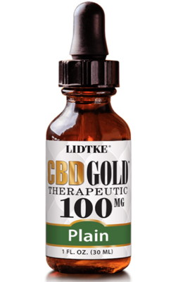 CBD Gold Therapeutic Organic 100mg 1 oz