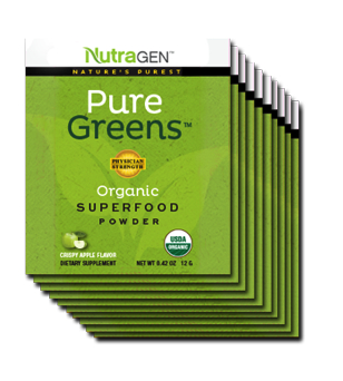 Pure Greens 10 Travel Packets – Crispy Apple