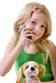 emf protection girl on phone